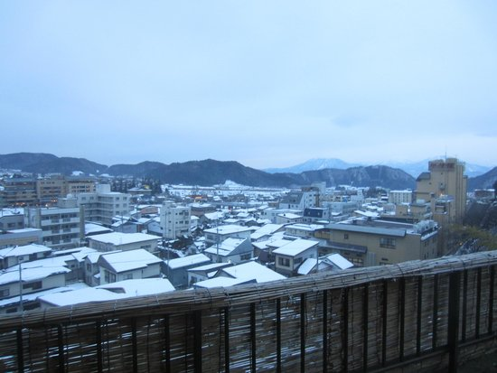 Shimaya Ryokan: View from private onsen