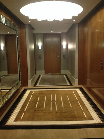 Crown Towers: elegant hallway