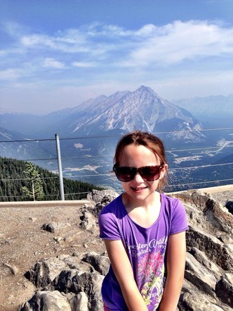 Banff Gondola: The top of the mountain!