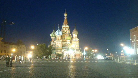 St. Basil's Cathedral: st.Basil at night