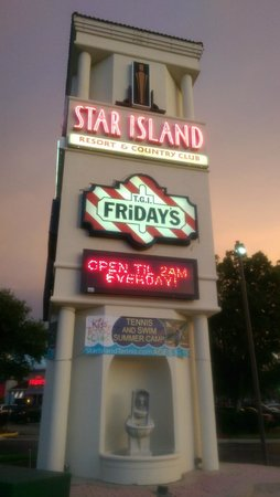 Star Island Resort and Club: Star Island Entrance at End of Road near TGI Friday's