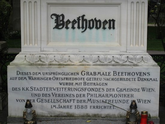 Central Cemetery (Zentralfriedhof): Gravestone of Beethoven