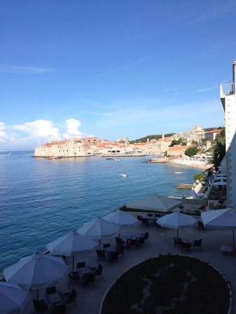 Hotel Excelsior Dubrovnik: View from hotel room