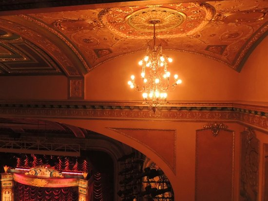A Gentleman's Guide to Love & Murder: Chandelier from the balcony