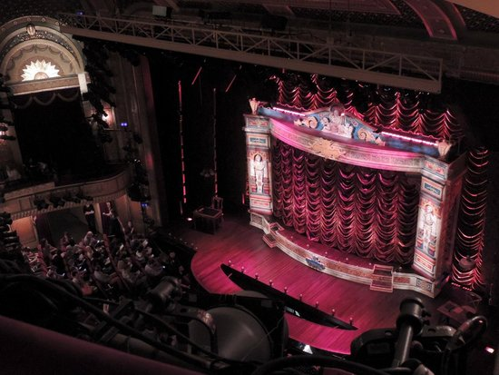 A Gentleman's Guide to Love & Murder: View from our seats (obstruction included)