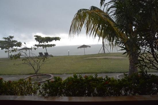 Bintan Cabana Beach Resort: view from room at high tide