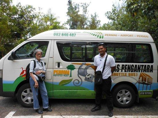 Permai Rainforest Resort: Van and driver