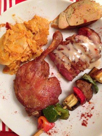 L'Etable : L'assiette coin coin une dégustation régionale