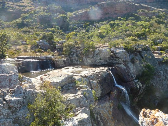 Makgabeng Lodge: waterfall on Blouberg