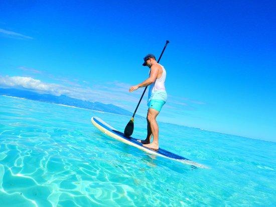 Sofitel Moorea Ia Ora Beach Resort: Paddle boarding from the beach