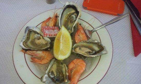 Captain Aldo : 4 huîtres et 4 crevettes