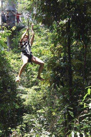 Bunga Raya Island Resort & Spa: Zip lining across the forrest