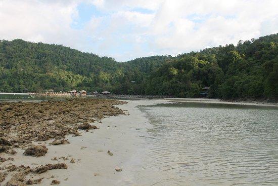 Bunga Raya Island Resort & Spa: The rock pools at low tide