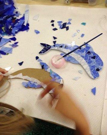 Mosaiccos: Mosaic dolphin
