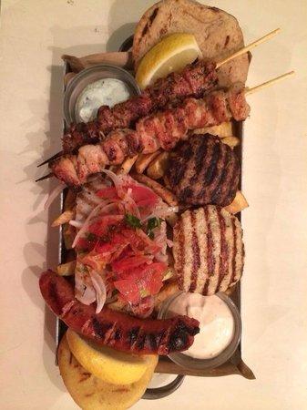 Pane e Souvlaki: Mixed Grill for 2. Yummy!