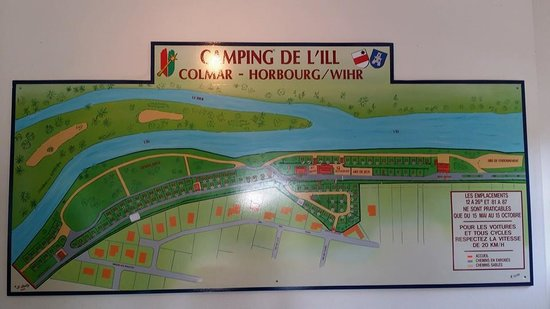 Camping de l'Ill : The layout