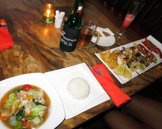 Rosemary Restaurant & Bar : CapCay and Shrimphonia
