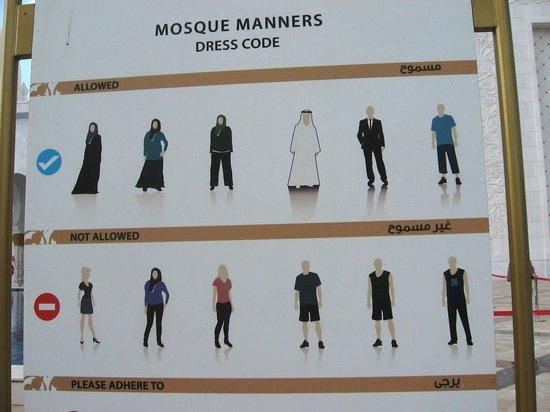 Mosquée Cheikh Zayed : дресс-код