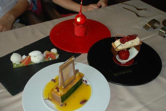 Auberge de la Roussille : Quels desserts !!