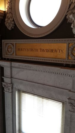 Library of Congress: Beauty is truth. Truth beauty