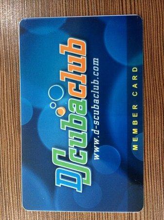 D Scuba Club: member card