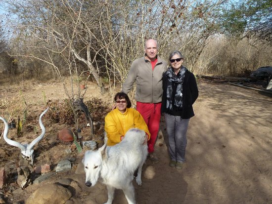 Calao Tented Camp: with Martine and Jean Marc and Hermes