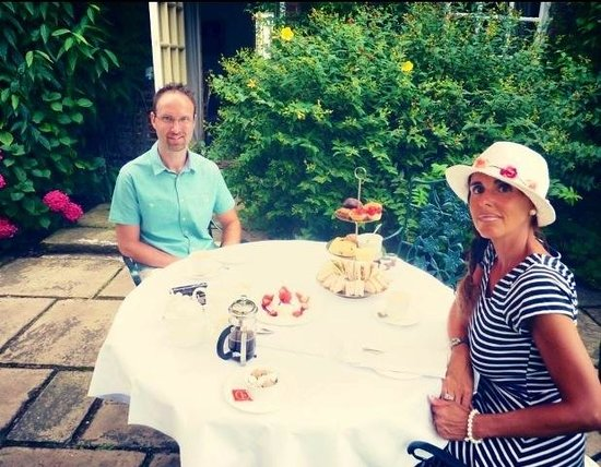 Hintlesham Hall: Afternoon Tea...served on the terrace