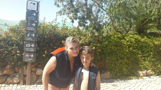 Zoomarine Algarve : My Son and I preparing for our Dolphin Adventure
