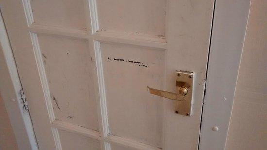 """New Dawn Hotel: """"Bathroom"""" door in room 7"""