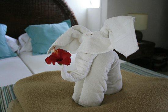 Coin de Mire Attitude : Pliage de serviette dans la chambre
