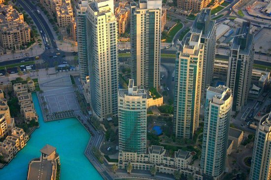 Armani Hotel Dubai: view from at the top observatory deck