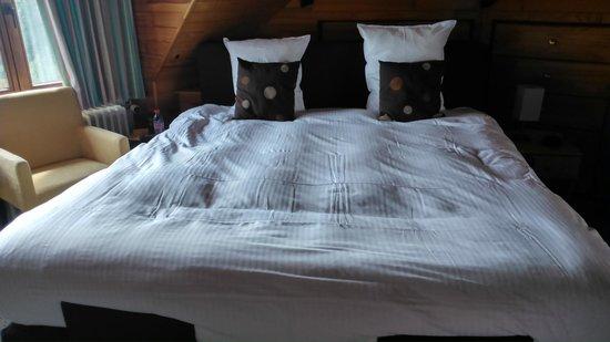 Hostellerie Kemmelberg : het zeer grote bed met elektrische bodems
