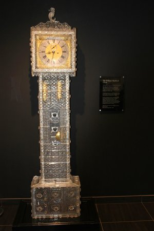 Waterford Crystal: Stunning Grandfather clock in entranceway