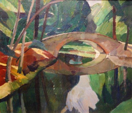 ARoS Aarhus Kunstmuseum : O. Rude: Broen i Frederiksberg Have