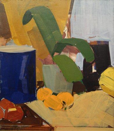 ARoS Aarhus Kunstmuseum : Ed. Weie: Nat. morte med potteplante og appelsiner