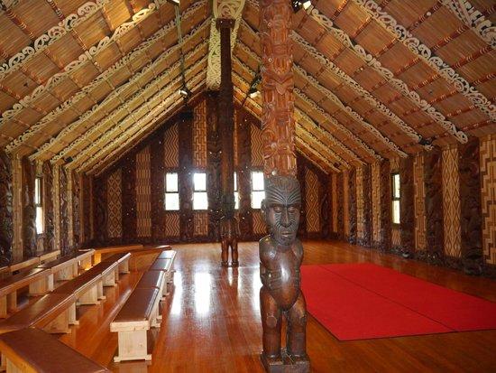 Interior of Te Whare Runanga, Waitangi Treaty Grounds