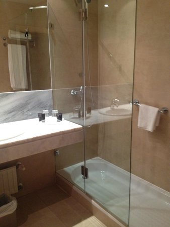 Hotel Paseo del Arte: ducha muy amplia