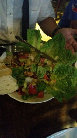 Salad at mulligan's overtime
