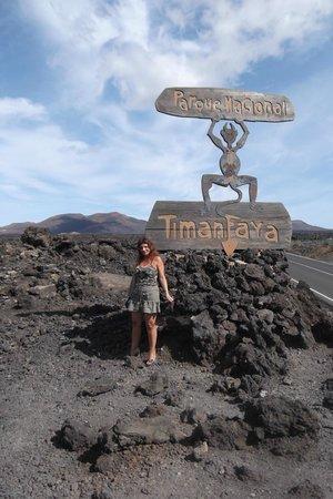 Parque Nacional de Timanfaya: Nei pressi dell'ingresso...