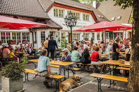 Waldgasthaus Steinbach & Hausbrauerei: Biergarten