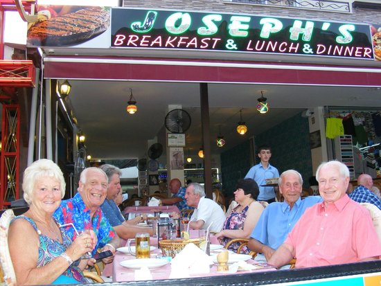 Joseph's Restaurant: Bill,Rita,Brian&Alan at Joseph's June 2014