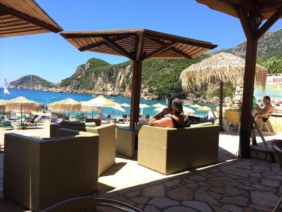 Gefyra, Grecia: Veduta dallo snack bar