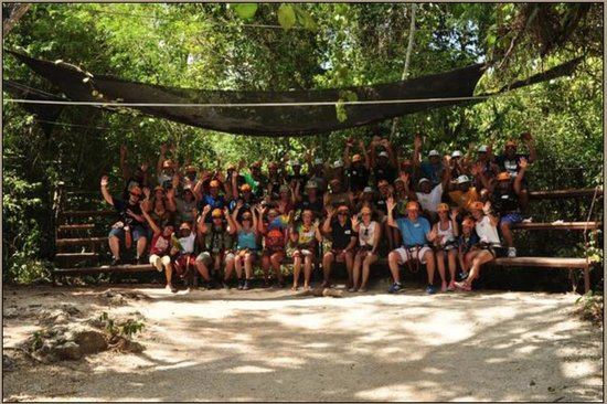 Selvatica: Group shot before Zip Lining!