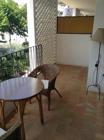Araxa Hotel : Terraza de habitación doble de uso individual