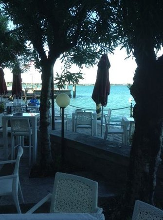 Hotel Sirmione: view from the  terrace at dinner