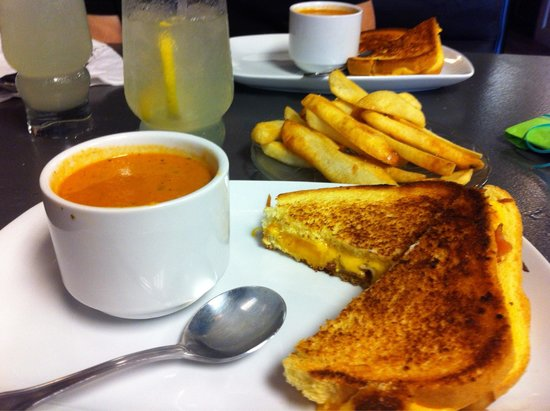 Table1: Grilled Cheese and Tomato Bisque!