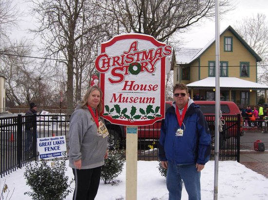 Lisa & Charles at The Christmas Story House