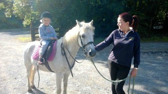 Ashford Equestrian Centre: My son on his pony ride - ponys name is Tommy
