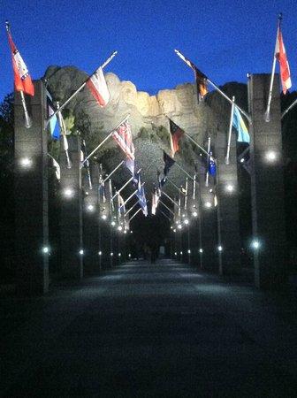 Mount Rushmore National Memorial: Mt. Rushmore after dark