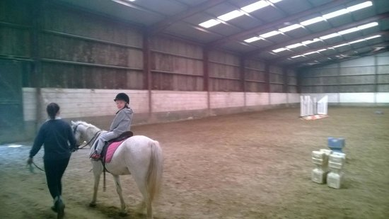 Ashford Equestrian Centre : Pony ride lesson before the ride in the forest